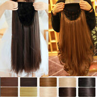 Real Thick Women Lady Fall Half Wig 3/4 Wig Clip In Hair Piece 2014 Hallowmas h5
