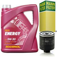5 Liter 5W-30 Mannol ENERGY ACEA A3 B4 VW MB API SL CF + MANN Filter Ölfilter