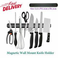 Magnetic Knife Scissor Holder Strip Wall Rack Shelf Tool For Kitchen Dining 13in