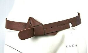 Cintura Donna in Pelle KAOS Made in Italy Marrone H253