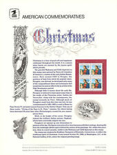 #272 22c Christmas 1986 Madonna #2244 USPS Commemorative Stamp Panel