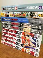 Mixed Shonen Manga Lot 10 Books Rurouni Kenshin Fullmetal Alchemist Trigun
