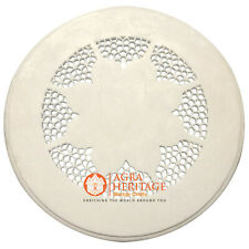 "15"" Marble White Round Table Handmade Filigree Design Home Decor E874"