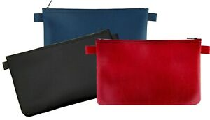 3 x Banktasche schwarz rot blau Geldtasche Aufbewahrungstasche Geldmappe Tasche