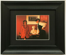 Sparrow and the Hawk by Jack Vettriano - Erotic - BLACK EDITION Framed Art Print