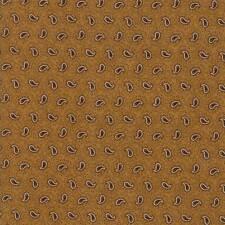 Moda Fabric Spice It up Petite Paisley Golden Yellow - per 1/4 Metre