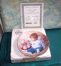 "1990 Norman Rockwell Knowles Collector Plate""Peek-A-Boo&#03 4;Coa Box Great Condition"