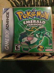 Pokemon Emerald Case and Game: GBA