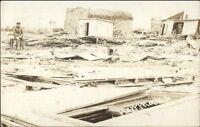 Monmouth IL - Tornado Damage Murdock House 1908 Real Photo Postcard spg