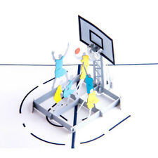 Sports basketball pop up greeting card,basketball dunking pop-up card