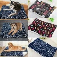 Pet Bed Mattress Dog Cat Cushion Blanket Pillow Mat Winter Warm Large Extra D6K3