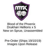 Warhammer 40K - Blood of the Phoenix - Drukhari Hellions x 5 - New on Sprue