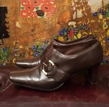 Liz Claiborne brown 2.5-inch heeled booties.  Size 7.5. Pre-owned.