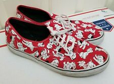 RARE Authentic Disney 101 Dalmatians Vans Shoes Sneakers Dogs Red White Size 12