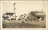 Falmouth Cape Cod MA Hurricane Wreckage Silver Beach Real Photo Postcard