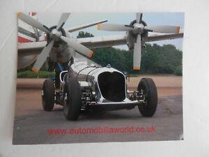 Motoring Postcard. Napier Railton at Brooklands