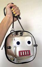 Metallic Silver Robot Head Kawaii Harajuku Crossbody Bag Handbag