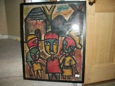Nigerian  political art print framed nice display peice  !!!!!!!!!