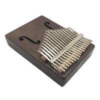 Portable Mini 17 Keys Kalimba Thumb Piano Mahogany Wood Body Finger Mbira Sanza
