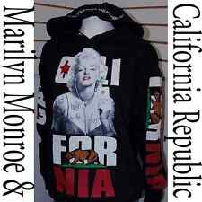 Men's Marilyn Monroe Cali Pullover Hoodie Sweater,California Republic Poker L