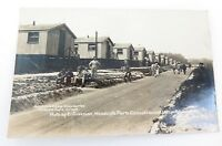 .WW1 SUPERB REAL PHOTO POSTCARD. HUTS OF E. DIVISION, WOODCOTE PARK HOSPITAL, UK
