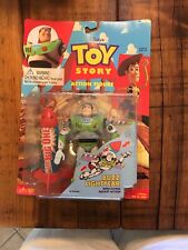 Toy Story Buzz Lightyear w/ Flying Rocket Action, Vintage 1995/96 New in Package