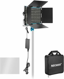 Neewer Dimmable Bi-color 660 LED Video Light 2 6600mAh Battery Tripod Full Kit