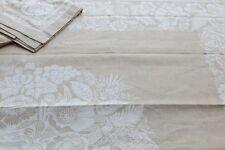 Très belle nappe 100%lin BOUQUET FORESTIER
