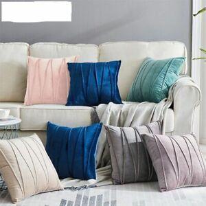 Velvet Striped Decorative Pillows Throw Cover Cases Cushion Covers Sofa  45x45cm