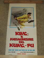 LOCANDINA ORIGINALE DEL FILM KING:IL MASSACRATORE DEL KUNG-FU