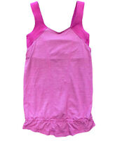 Lululemon Tank Top Sz 4 Womens Pink Athletic Loose Yoga Gym run for your life