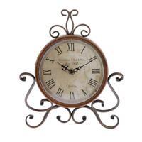 Quiet-ticking Clock Table Bedside Desk Clock Analog Vintage Iron Alarm Clock