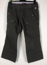 DIESEL TAILLE UK 12/30 Karki Crop Style Jeans Popper Boutons Leg