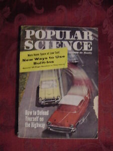POPULAR SCIENCE Magazine September 1958 B-52 Missles Home Space Savers