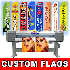 15' Full Color Custom Tall Swooper Advertising Flag Feather Banner - No Hardware