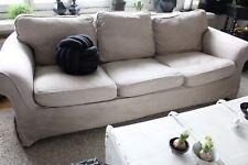 EKTORP ♦ Sofabezug in TAUPE von IKEA ♣ 3er selbst vintage gefärbt
