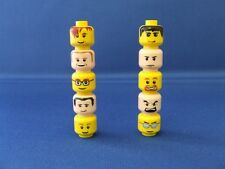 10 New LEGO City Town Minifigures Minifig Heads Bulk Lot Set C