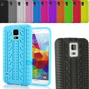 Tyre Thread Soft Silicon Gel Rubber Back Skin Case Cover for Samsung Galaxy S4