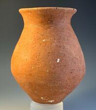 ANCIENT HOLY LAND TERRA-COTTA JAR; EARLY BRONZE AGE, circa 2500 B.C.