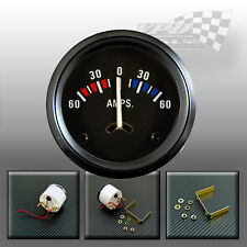 """Amperímetro 60-0-60 AMP Medidor de batería 52mm/2"""" Ajuste Universal Coche Clásico"""
