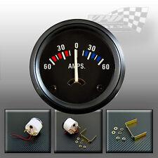 "60-0-60 BATTERIA Amperometro Amp Gauge 52mm/2"" universale adatta auto d'epoca"