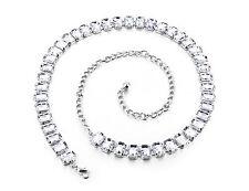 Silver Diamanté/Diamond Ladies Waist Chain/Charm Belt - One Size Fits All - 696