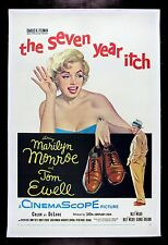 THE SEVEN 7 YEAR ITCH CineMasterpieces ORIGINAL MOVIE POSTER MARILYN MONROE 1955