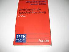 Einführung in die Sprachlehrforschung , Edmondson / House , 2. Aufl. 2000