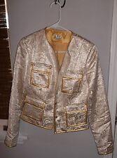 Cache Silver Embellished Waist Jacket