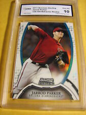 JARROD PARKER A'S 2011 BOWMAN STERLING REFRACTOR ROOKIE RC # 136/199 GRADED 10