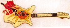 Hard Rock Cafe BANGKOK 1998 HALLOWEEN PIN Red Imp on WHITE Guitar- HRC #954