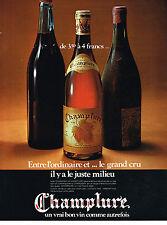 PUBLICITE  1971   CHAMPELURE  vin