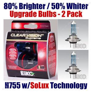 2pk Upgrade Fog Light Bulbs 80% Brighter 50% Whiter - EiKO H755CVSU2