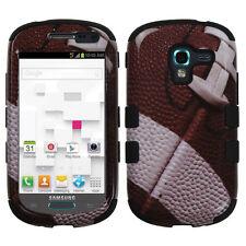 Samsung Galaxy Exhibit T599 IMPACT TUFF HYBRID Case Skin Phone Cover Football